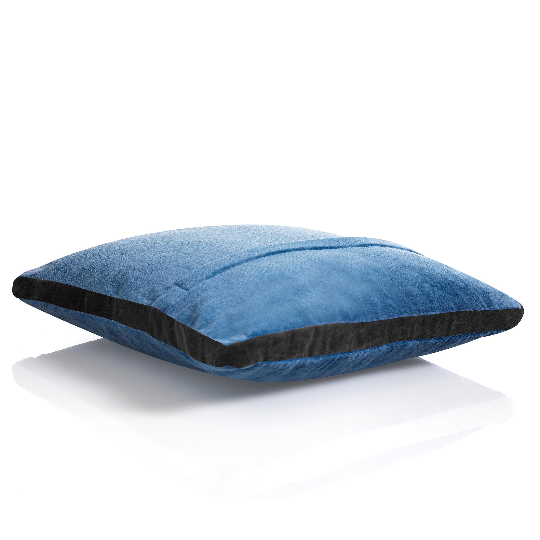 Cuscino VELVET BLUE & GREY